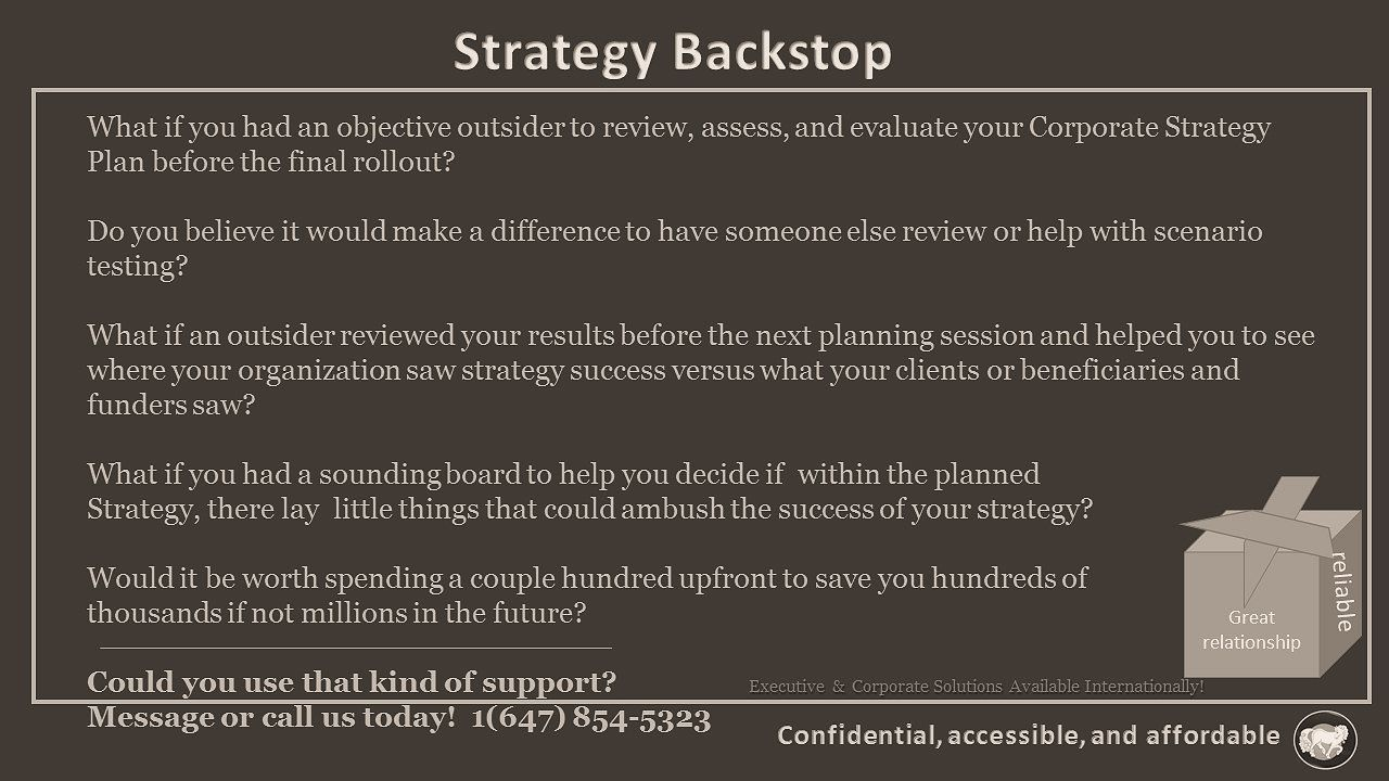 Strategy Backstop