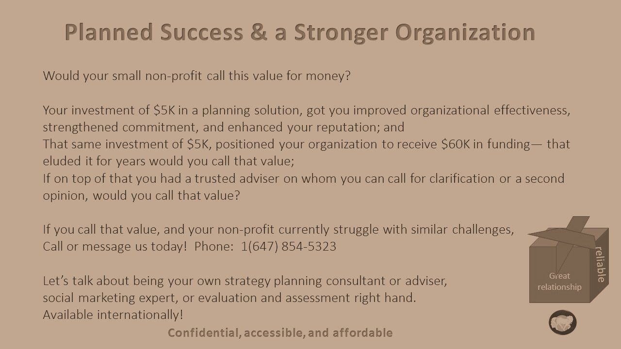 planned success and stronger org