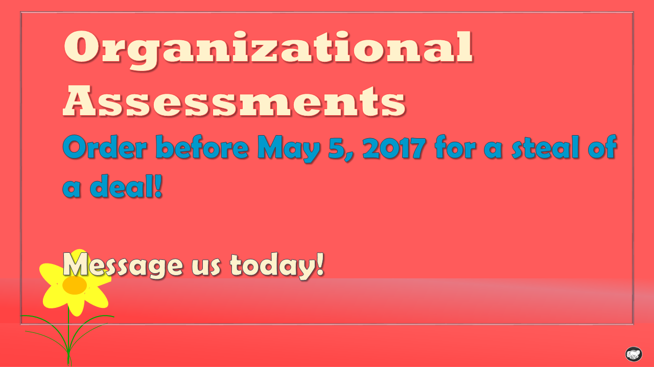 organizational assessments 2017
