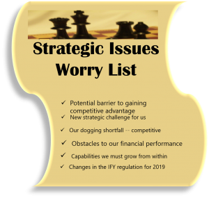 strategic issues worry list