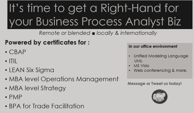 business process analyst right-hand  trade facilitation business process analyst