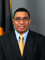 Then leader of the Opposition of Jamaica, the Honourable Andrew Holness, MP