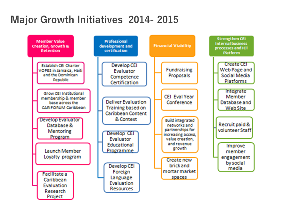 caribbean evaluators international VOPE strategy and actions 2014 -2015 plan