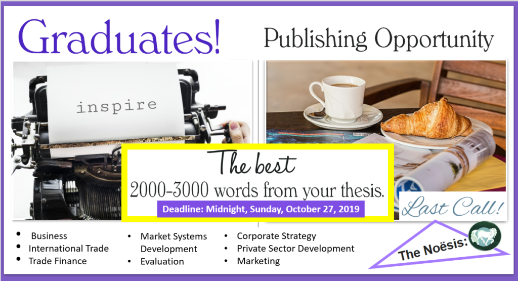 Call for Papers recent graduates, publication opportu