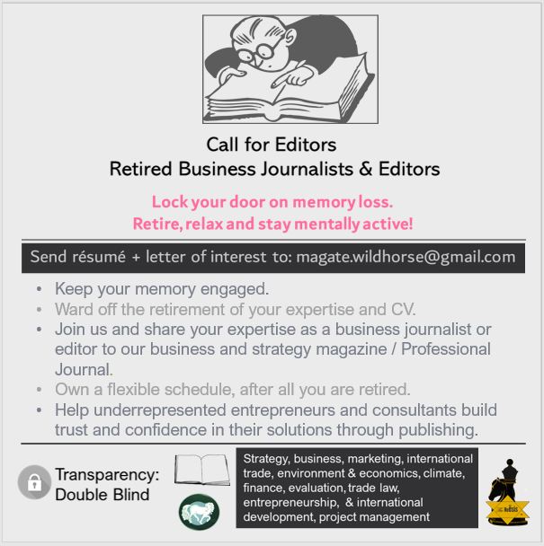call for editors, retired business journalists and editors, keep your memory engaged